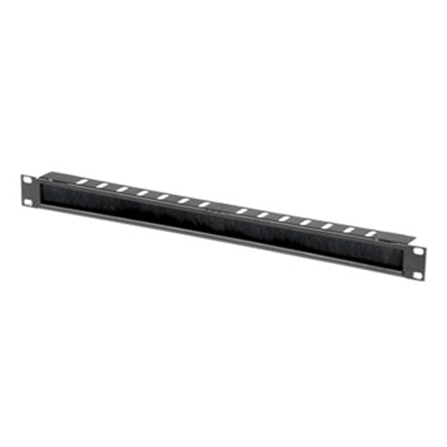 1U Brush Panel with 50mm Base plate - Networking