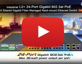 Industrial L2+ 24 802.3at PoE + 4 shared Gigabit Fibre Managed Switch (IGS-5225-24P4S)