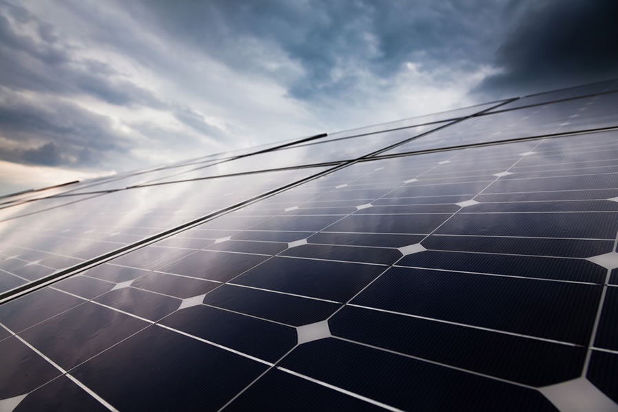 Solar panel distribution in Southern Africa
